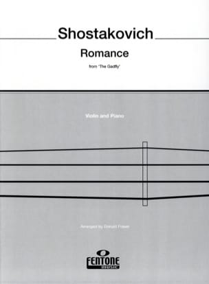 Romance from The Gadfly - Violin CHOSTAKOVITCH Partition laflutedepan