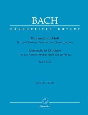 Konzert d-Moll BWV 1043 - 2 Violinen - Conducteur BACH laflutedepan