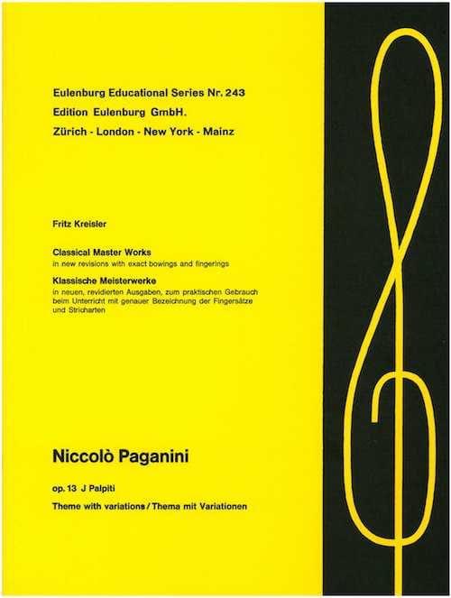 I Palpiti op. 13 Kreisler - PAGANINI - Partition - laflutedepan.com
