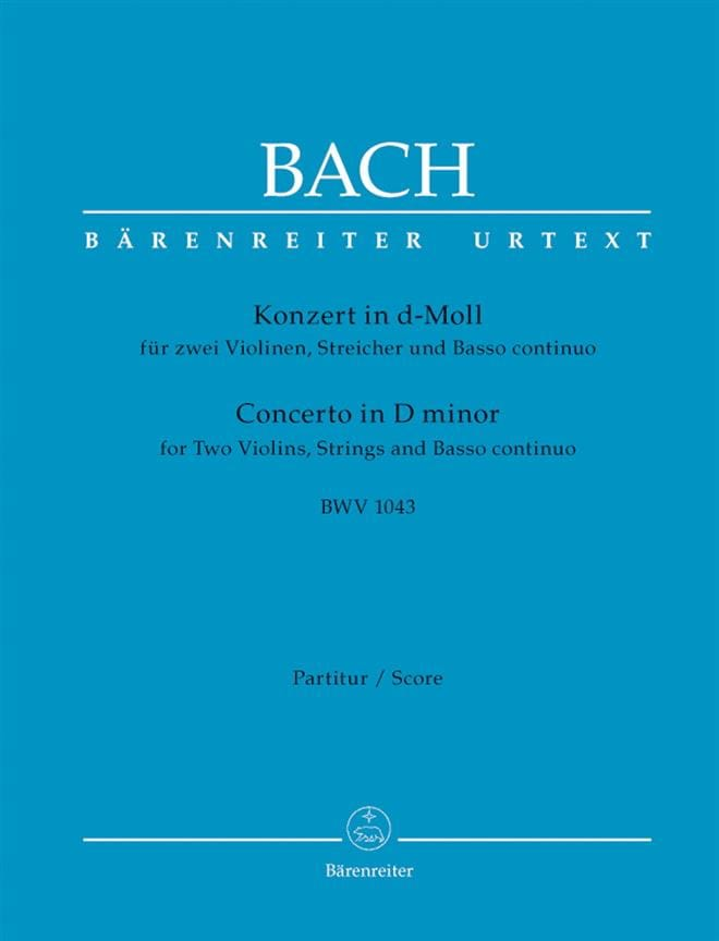 Konzert d-Moll BWV 1043 - 2 Violinen - Conducteur - laflutedepan.com