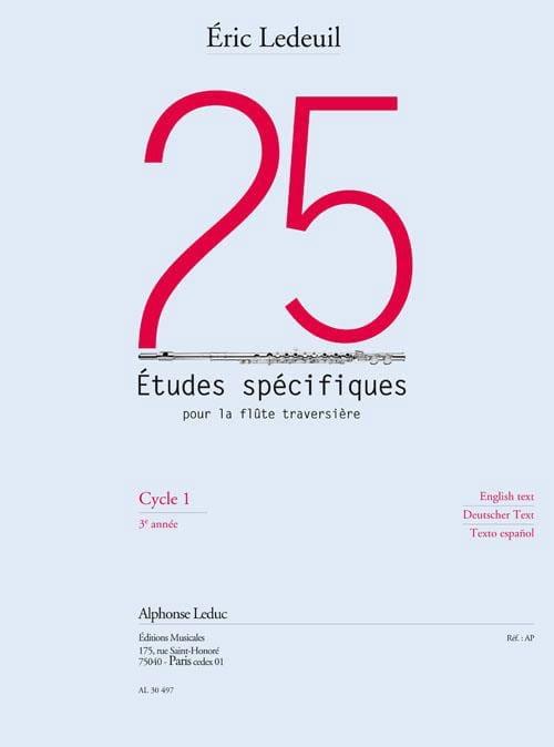 25 Etudes Spécifiques Pour la Flûte Traversière - laflutedepan.com