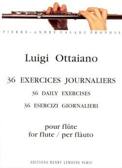 36 Exercices journaliers - Flûte Luigi Ottaiano Partition laflutedepan