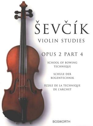 Etudes Opus 2 / Partie 4 - Violon Otakar Sevcik Partition laflutedepan