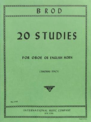 20 Studies - Oboe english horn Henri Brod Partition laflutedepan