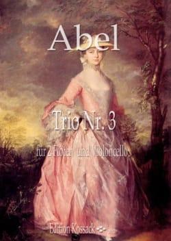 Trio en Do Majeur, op. 16 n° 3 Carl Friedrich Abel laflutedepan