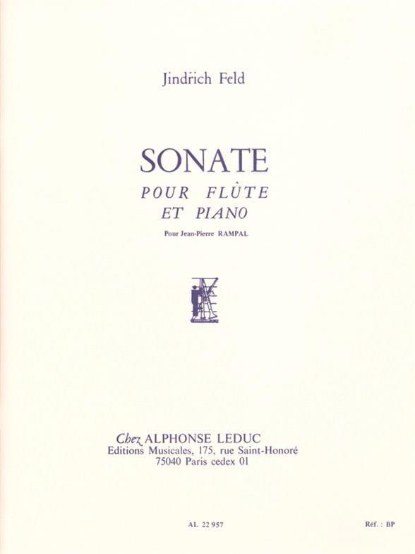 Sonate - Flûte piano - Jindrich Feld - Partition - laflutedepan.com