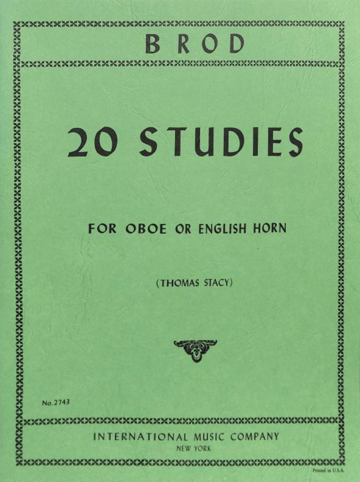 20 Studies - Oboe english horn - Henri Brod - laflutedepan.com