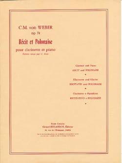 Récit et Polonaise op. 74 Carl-Maria Von Weber Partition laflutedepan