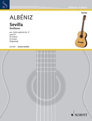 Suite española n° 3 : Sevilla ALBENIZ Partition Guitare - laflutedepan