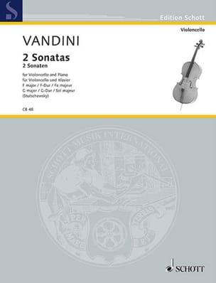 2 Sonaten F-Dur und G-Dur Antonio Vandini Partition laflutedepan