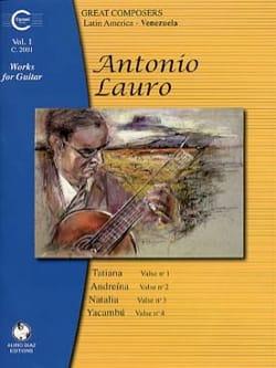 Oeuvres pour Guitare, Volume 1 Antonio Lauro Partition laflutedepan