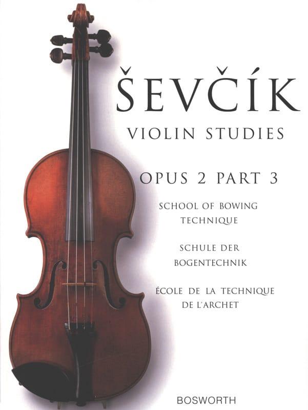 Etudes Opus 2 / Partie 3 - Violon - Otakar Sevcik - laflutedepan.com