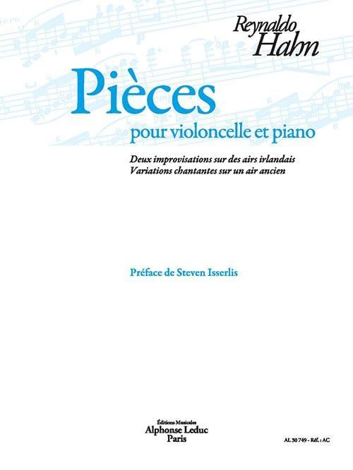 Pièces - Violoncelle et Piano - Reynaldo Hahn - laflutedepan.com