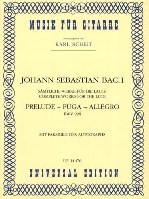 Prelude - Fuga - Allegro BWV 998 -Gitarre BACH Partition laflutedepan