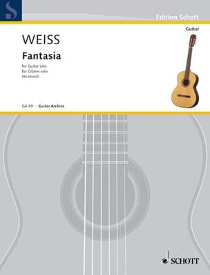 Fantasie in e-Moll für Gitarre Solo Silvius Leopold Weiss laflutedepan