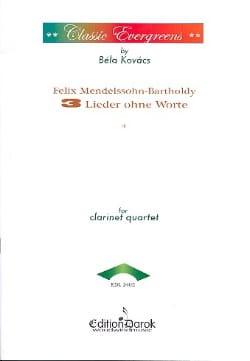 3 Lieder ohne Worte - 4 Klarinetten - MENDELSSOHN - laflutedepan.com