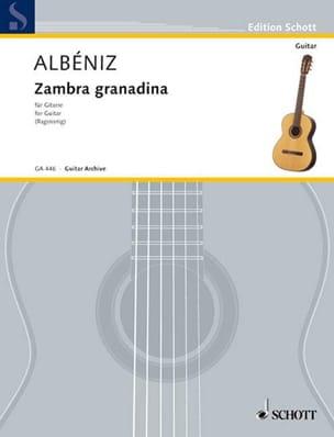 Zambra granadina ALBENIZ Partition Guitare - laflutedepan