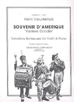 Souvenir d'Amérique VIEUXTEMPS Partition Violon - laflutedepan
