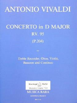 Concerto in D major RV 95 P. 204 -Treble recorder oboe violin basson Bc laflutedepan