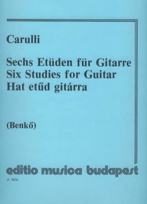 6 Etüden für Gitarre Ferdinando Carulli Partition laflutedepan