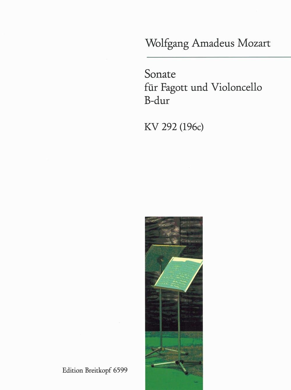 Sonate KV 292 - MOZART - Partition - Duos - laflutedepan.com