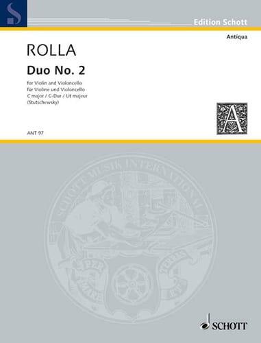 Duo n° 2 en ut majeur - Alessandro Rolla - laflutedepan.com