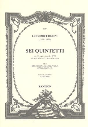 Sei quintetti op. 19 G. 425-430 - BOCCHERINI - laflutedepan.com