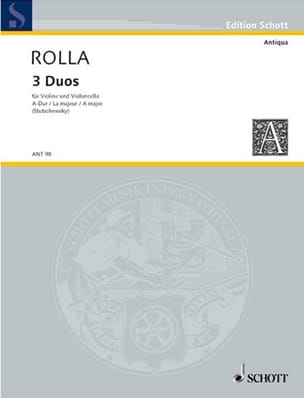 Duo n° 3 en la majeur Alessandro Rolla Partition 0 - laflutedepan
