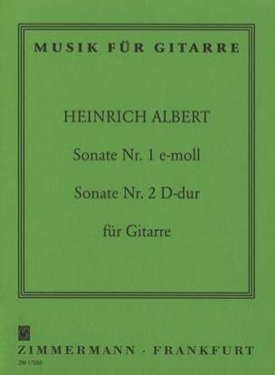 Sonate Guitare Nr. 1 C-Moll - Nr. 2 D-Dur Heinrich Albert laflutedepan