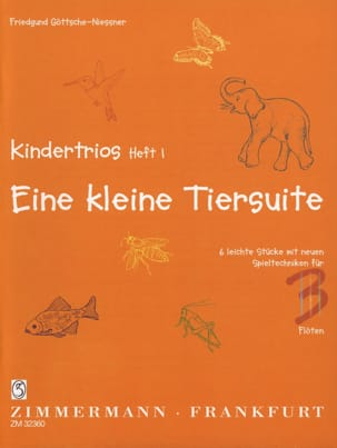 Kindertrios Volume 1 Friedgund Göttsche-Niessner laflutedepan
