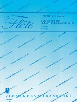 8 Stücke aus dem Album für die Jugend - 3 Flöten SCHUMANN laflutedepan