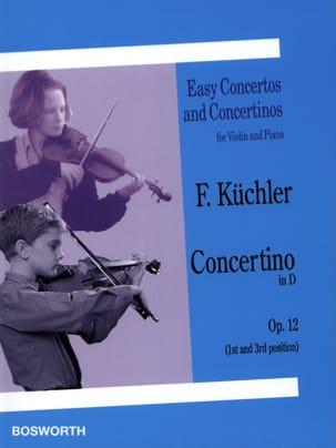 Concertino in D op. 12 Ferdinand Küchler Partition laflutedepan