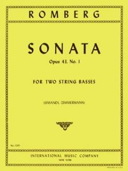 Sonate op. 43 n° 1 - 2 String Basses ROMBERG Partition laflutedepan