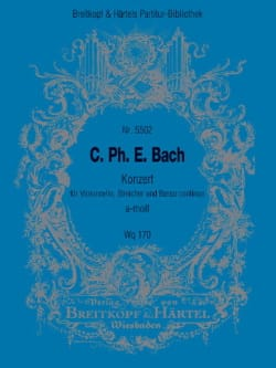 Concerto en la Mineur pour Violoncelle et Orchestre Wq 170 - laflutedepan.com