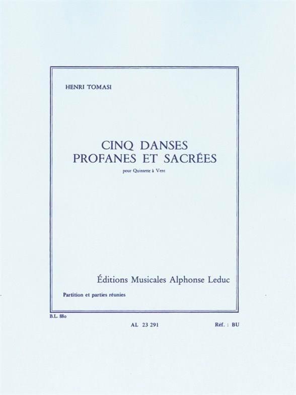 5 Danses profanes et sacrées -Quintette vent - laflutedepan.com