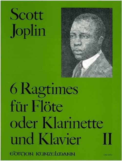6 Ragtimes Bd. 2 - Flöte o. Klarinette Klavier - laflutedepan.com