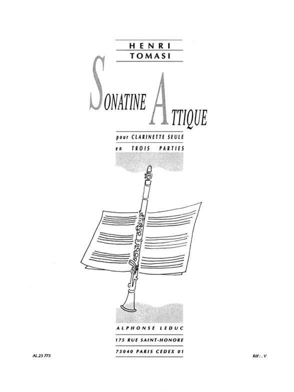 Sonatine Attique - TOMASI - Partition - Clarinette - laflutedepan.com