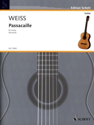 Passacaille Silvius Leopold Weiss Partition Guitare - laflutedepan
