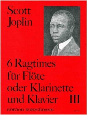6 Ragtimes Bd. 3 - Flöte o. Klarinette Klavier JOPLIN laflutedepan