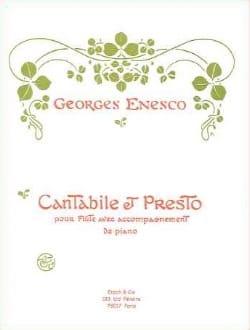 Cantabile et Presto ENESCO Partition Flûte traversière - laflutedepan