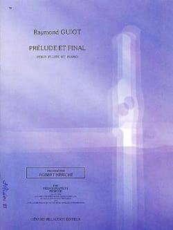 Prélude et Final Raymond Guiot Partition laflutedepan