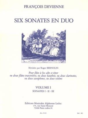 6 Sonates en duo Volume 1 - 2 Flûtes à bec DEVIENNE laflutedepan