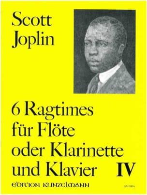 6 Ragtimes Bd. 4 - Flöte o. Klarinette Klavier JOPLIN laflutedepan