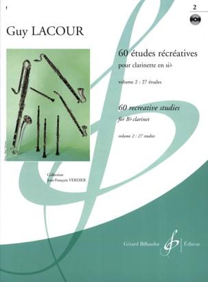60 Etudes récréatives - Volume 2 Guy Lacour Partition laflutedepan