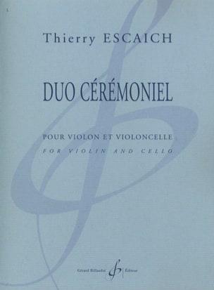 Duo Cérémoniel Thierry Escaich Partition 0 - laflutedepan
