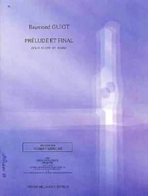 Prélude et Final - Raymond Guiot - Partition - laflutedepan.com