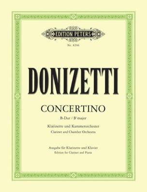 Concertino en Si b Majeur - DONIZETTI - Partition - laflutedepan.com