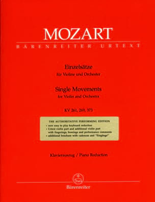 Einzelsätze für Violine KV 261, 269, 373 MOZART Partition laflutedepan