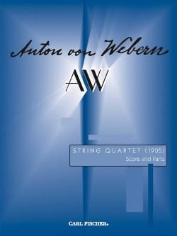 String quartet 1905 - Score WEBERN Partition laflutedepan