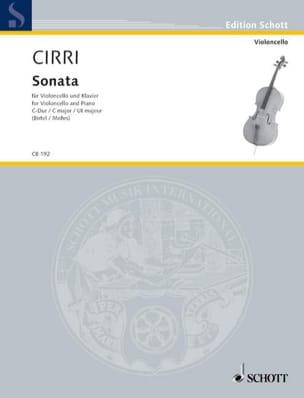 Sonate En Ut Maj. - Giambattista Cirri - Partition - laflutedepan.com